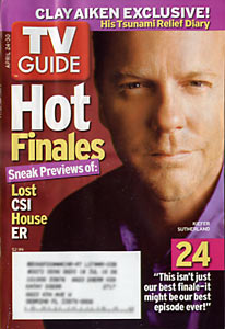 TV Guide - Clay Aiken, Kiefer Sutherland 24 (2005)